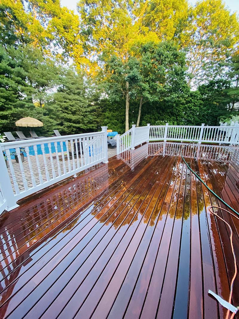 Suffolk County Long Island pool deck