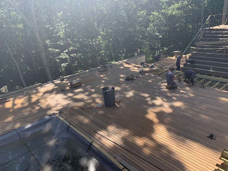Suffolk County Long Island IPE wood deck and repairs