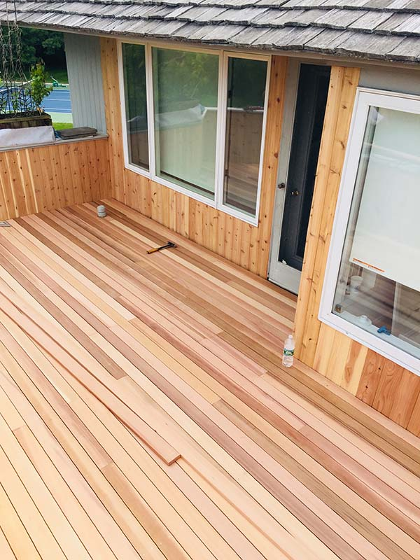 Suffolk County Long Island flat roof deck and repairs