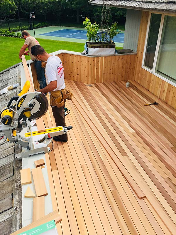 Suffolk County Long Island ipe deck and repairs