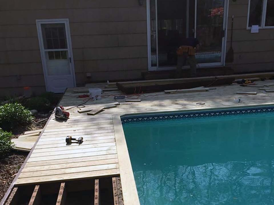 Suffolk, Long Island, NY pool deck and repairs